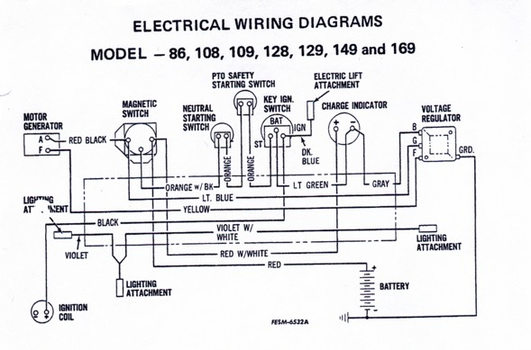 cub cadet collectors dot com • view topic ok i need 129 wiring here s the wiring diagram